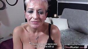 OmaHunter Teen girl with strapon fucks chubby mature