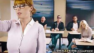 Brazzers - Big Tits at School -  The Substitute Slut scene starring Penny Pax and Jessy Jones
