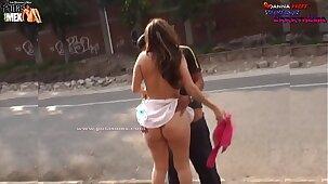 LA SORPRENDEN TENIENDO SEXO EN LA CALLE Y ESCAPA DE LA POLICÍA LA PUTA DE MEXICO DANNA HOT