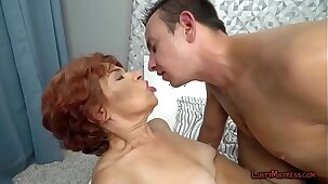 Greedy granny is mad for dude?s willy