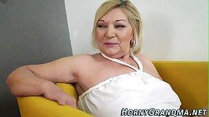 Granny gets cum dumped