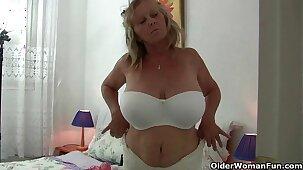 Fun things happen when grandma puts on her fishnet pantyhose