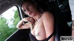 Hot Blonde Hitchhiker video starring Alena - Mofos.com