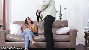 Busty Cuban Wife Diamond Kitty Wants Dick B4 He Goes 2 Work