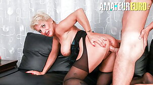 AmateurEuro Mature Lady Lisa Shadow Got Anal From Young Stud