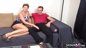 German Mom Seduced to First Porn Casting after Facebook Chat