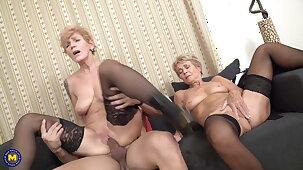 Mature sluts suck and fuck young cocks