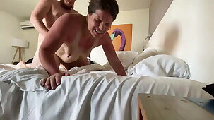 Camille gets cum in her ass