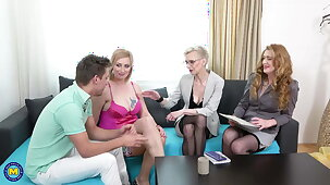 Mature moms hunt for young cocks